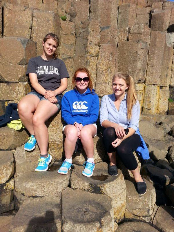 Mary, Rachel, and I at the Giant's Causeway