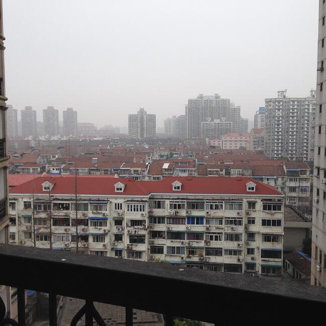 Maggie Loya's Balcony, overlooking Shanghai