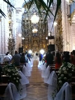 Wedding at the Cathedral of Santra Prisca