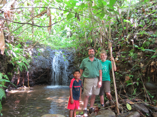 waterfall in Bocas del Toro