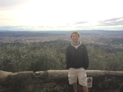 Michael Cerchione and a beautiful view of Florence