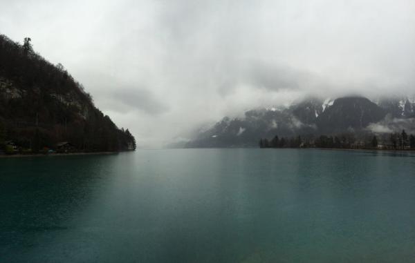 Thunersee Lake in Switzerland