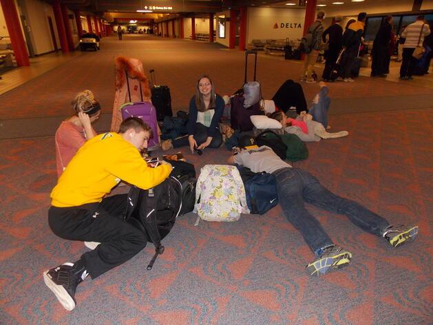 Waiting at Pittsburgh Airport