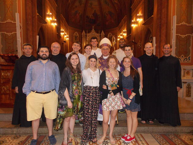 Mass with the Bishop in Brazil