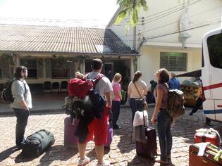 Arriving in Brazil