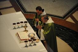 Monks Praying at Saint Vincent