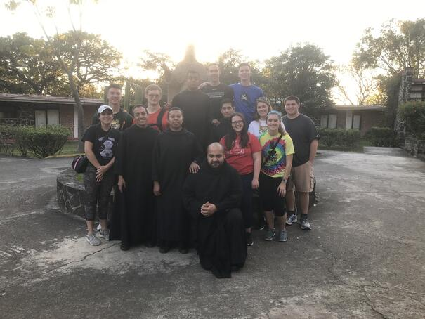 Group photo with Benedictine Monks