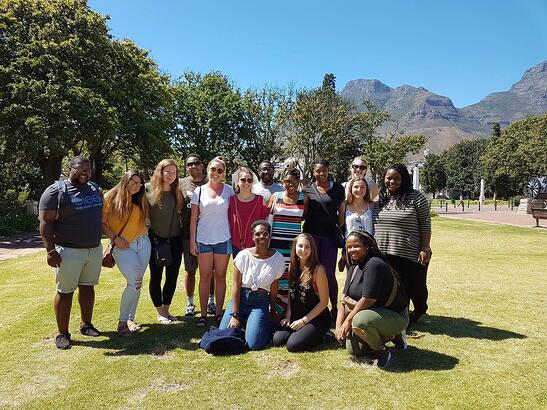 Students at Camps Bay Beach